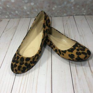 New Bella Marie Leopard Suede Flats Size 7